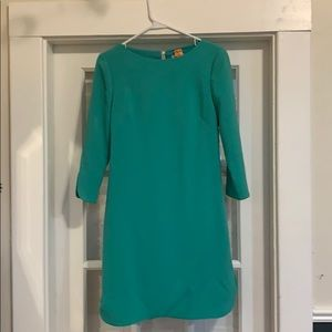 Eliza J turquoise 3/4 sleeve shift dress